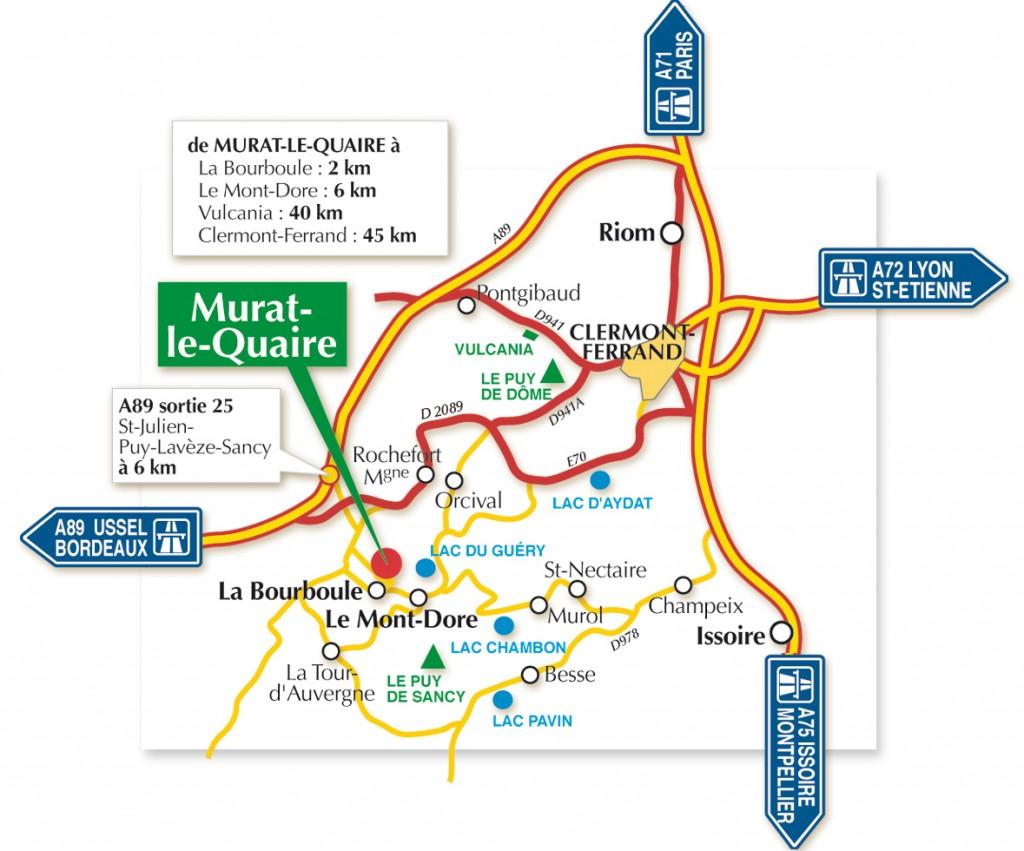 Plan de localisation de Murat-le-Quaire
